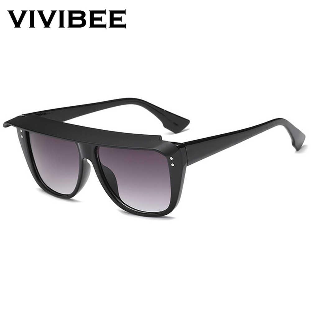7a3c03633403 ... VIVIBEE 2019 Trend Fashion Big Size Woman Sunglasses Retro Top Vogue  Oversized UV400 Vintage Square Italy ...