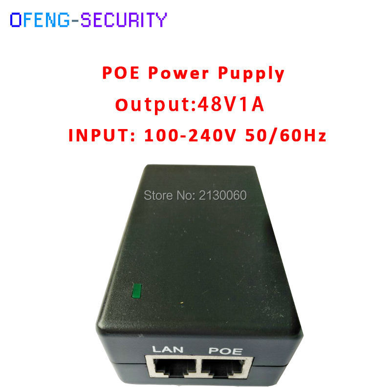 poe injector 48V1A POE Power Supply POE Injector 48V1A Input 100-240V 50/60Hz Output 48V1A POE pin4/5(+),7/8(-) For CCTV IPC цена