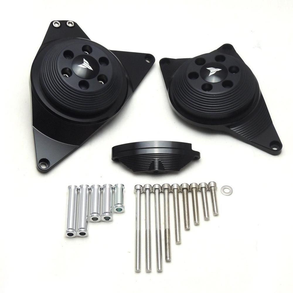 For Yamaha mt 09 fz 09 fj 09 Full Engine Stator Case  Plug Clutch Cover Protector MT-09 mt09 tracer XSR900 700 2016