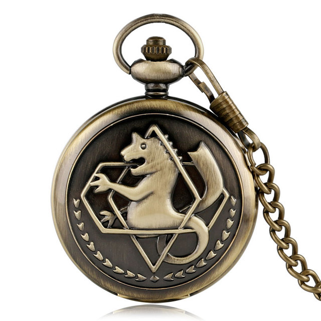 High Quality Cartoon Fullmetal Alchemist Quartz Pocket Watch Japan Animate Fob C