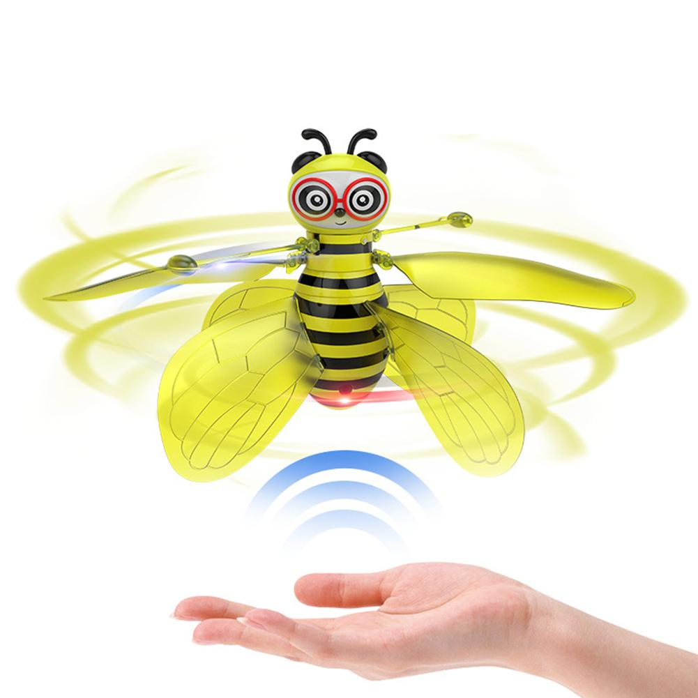 Infrared Induction Flying Bee Flight Suspension Rechargeable Aircraft With LED Mini Helicopter Remote Control Toys For Children