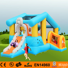Free Shipping Yard Bouncer Inflatable Mini Bouncer with Slide Indoor Playground with Free CE blower