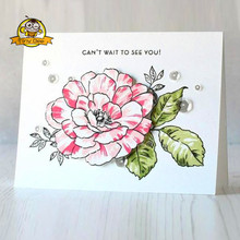 Cutting Dies 2019 Rose Flower Die Clear Stamp and for Scrapbooking CardAlbum Making Metal Stamps Set