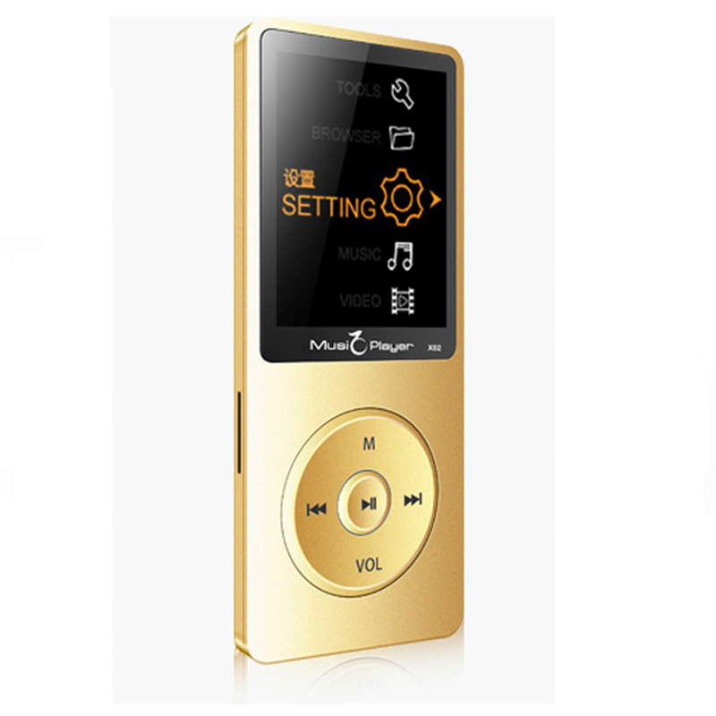 New Ultrathin 8GB MP3 Player Built in Speaker 1 8 Inch Screen Can Play 80 hours