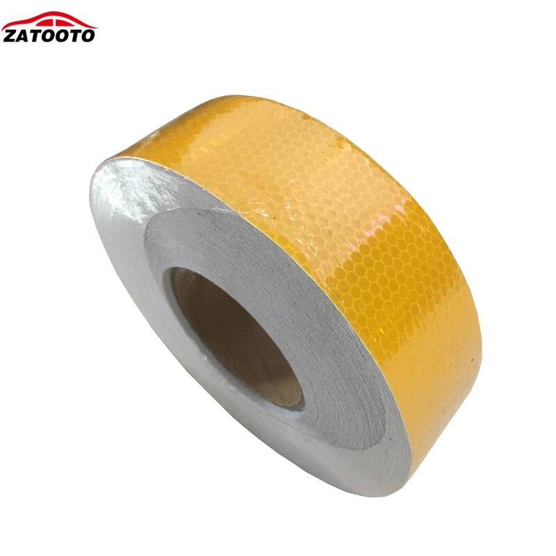 5 см* 45 м желтый с решеткой Светоотражающие меры предосторожности, безопасности предупреждающая видимость лента рулон полосы самоклеющиеся Предупреждение ющие наклейки