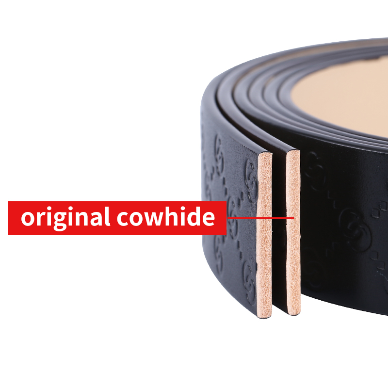 Image 2 - BIGDEAL High Quality Cow Leather Belt For Men Business Strap Men's Belt Cowskin Casual Belt Gift-in Men's Belts from Apparel Accessories on AliExpress