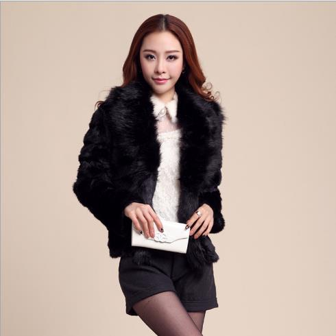 La Furry Fourrure Fluffy Femme Plus Z424 Veste Outwear Artificielle Taille Faux Manteau De Moelleux Femmes 2018 D'hiver Fausse 6Sx8H7
