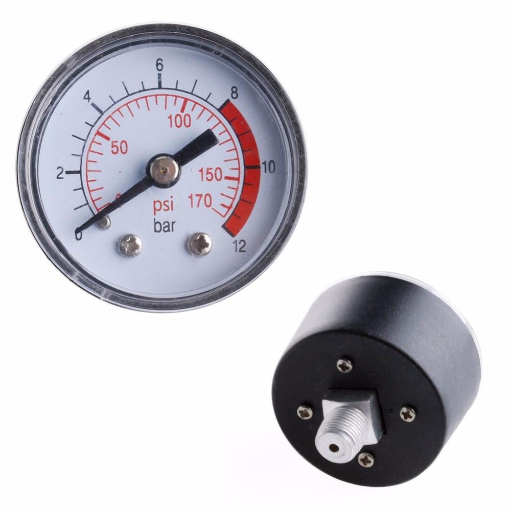 Пневматический воздушный компрессор гидравлический манометр для жидкости 0-12Bar/0-170PSI