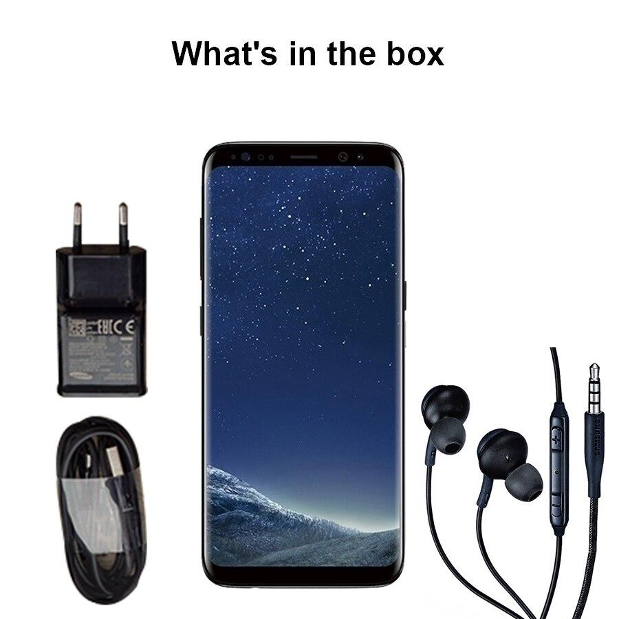 Originale per Samsung Galaxy S8 4 Gb di Ram 64 Gb Rom da 5.8 Pollici Singola Sim Android Octa Core 12MP 3000 Mah fingerprin S Serie Del Telefono Mobile - 5