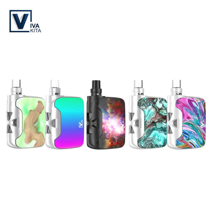 Electronic Cigarette Fusion SP kit 1500mah All-In-One 2.0ml/3.8ml atomizer 50W Vape box mod 0.25ohm vaporizer kit vapor battery