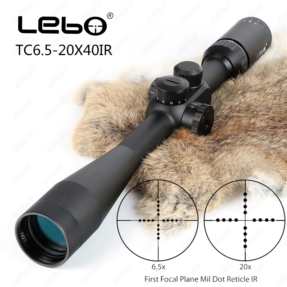 Tactical LEBO TC 6.5-20x40 SP Riflescopes First Focal Plane Side Parallax Mil-dot Glass Etched Reticle Hunting Rifle Scope marcool 4 16x44 side focus front focal plane optical sights rifle scope hunting riflescopes for tactical gun scopes for adults