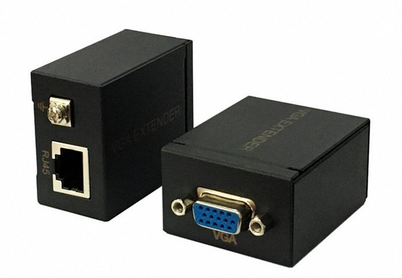 60m VGA Extender 1x1 Splitter RJ45/cat5e/6 ethernet cable Ethernet Adapter Amplifier support monitor projector HDTV PC VE60