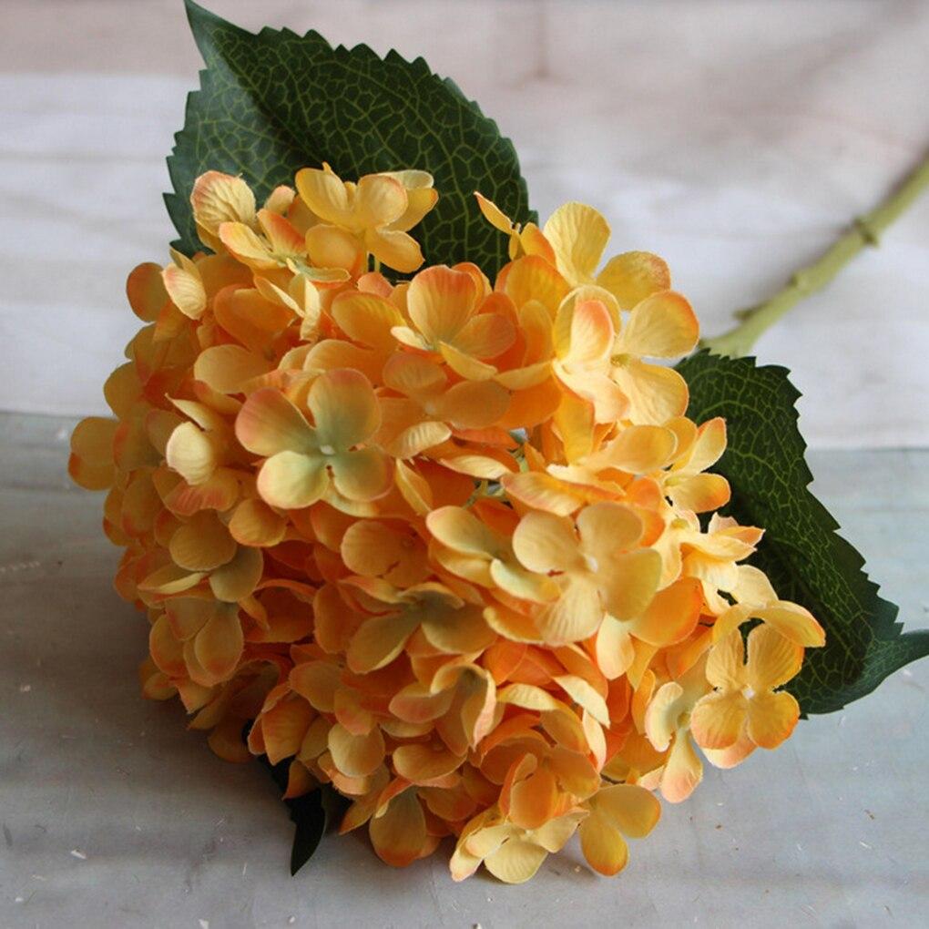 Literature and art Silk Artificial Hydrangea Bouquet Flowers Arrangement Home Wedding Christmas Decoration