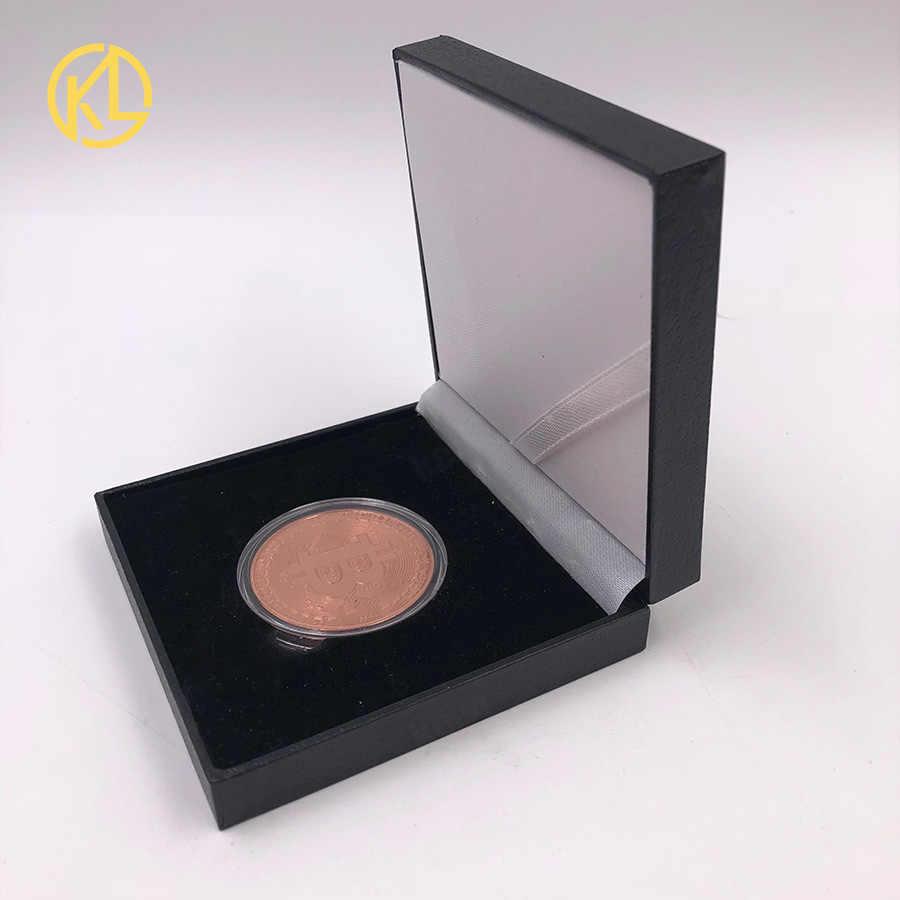 Herdenkingsmunten Voor Collection Art Collection Goud Brons Sliver Plated Bitcoin Specie Ethereum Munten Munten Harde Valuta