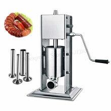 Вертикальный 3л ручной наполнитель колбасы для изготовления испанских Чуррос производитель мяса экструдер колбаса шприц нержавеющая сталь машина для изготовления Чуррос
