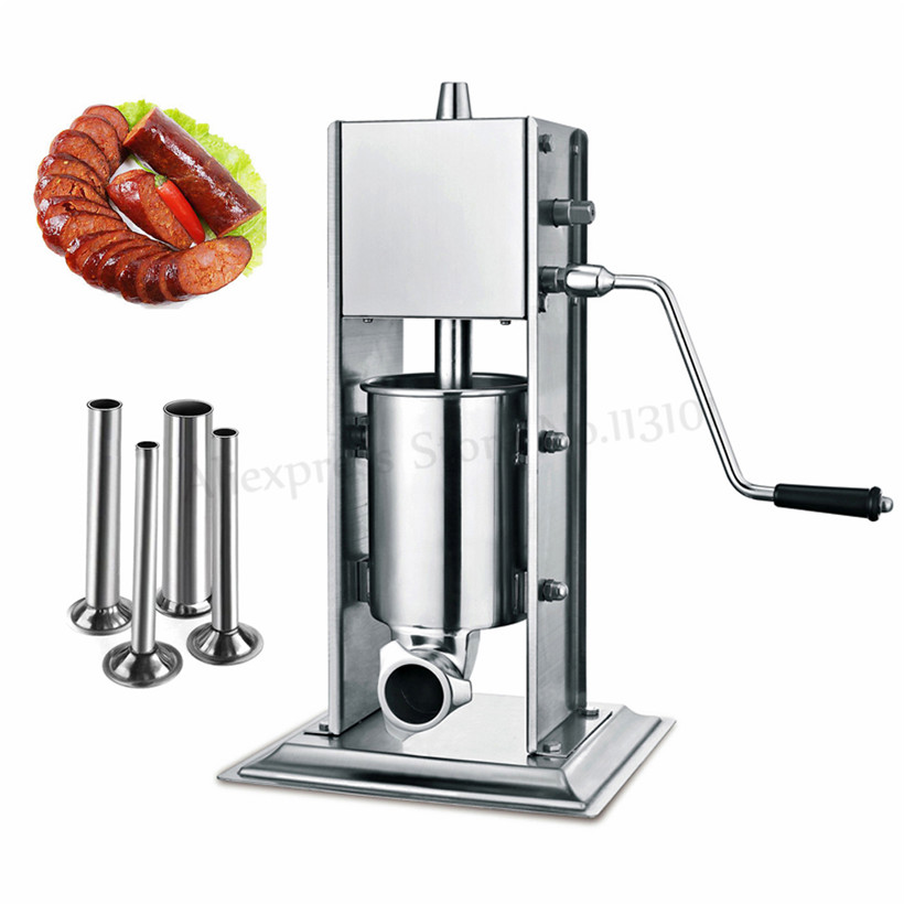 Vertical 3L Manual Sausage Filler Spanish Churro Maker Meat Extruder Sausage Stuffer Stainless Steel Churros Making Machine цена и фото