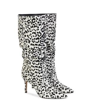 Carpaton 2018 Spring Fall Winter New three colors suede pointed super high heel boots ladies sexy leopard knee-high boots