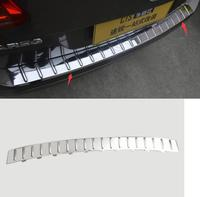 ABS plating Rear bumper Protector Sill fit for 2011 2015 Volkswagen Touareg Car styling
