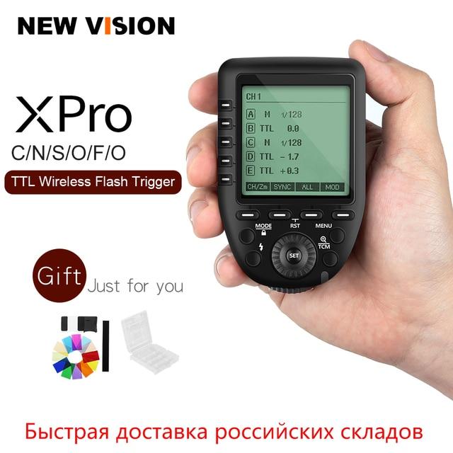 Đèn Flash Godox Xpro C Xpro N Xpro S Xpro F Xpro O Xpro P 2.4G TTL Không Dây Kích Hoạt Bộ Phát Cho Canon Nikon Sony Fuji Olympus Pentax