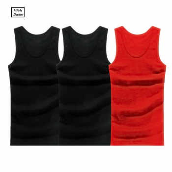 3PCS Men's Close-fitting Vest Fitness Elastic Casual O-neck Breathable H Type All Cotton Solid Undershirts Male Tanks - DISCOUNT ITEM  26% OFF All Category