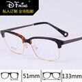 New retro small box plain mirror 9175 square thin brow line full frame plain glasses frames, prescription eyeglasses
