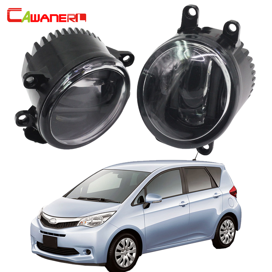 Cawanerl 1 Pair Car Light LED Fog Lamp DRL Daytime Running Light White 12V For Subaru Trezia Hatchback 1.3 1.4D 2011 Onwards
