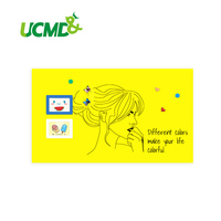 Flexible Dry Erase Ferrous Whiteboard Stick on Wall Removable Yellow board Home Decoration 80 cm x 50 cm x 0.6 mm