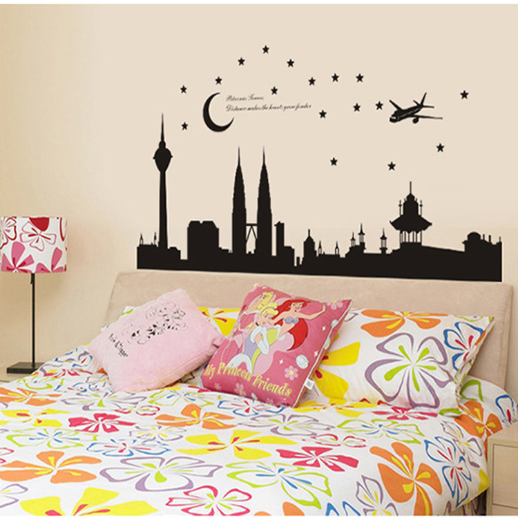 2016 new! large size:140*70cm high quality wall sticker malaysia's