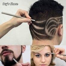 Frys Store Newest Hair carving pen magic oil head notch man hair refined steel razor pen barber razor eyebrow shaving shave