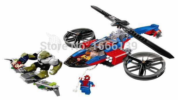 BELA MARVEL Tremendous Heroes Avengers Spider-Man SPIDER HELICOPTER RESCUE DIY Constructing Blocks Minifigures Appropriate with LEGO 76016