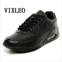VIXLEO 2018 Unisex Running Shoes Breathable Air Mesh Lace up Sport Shoes Outdoor Cushion Shoes Maxings 90 Sneakers Shoes 36 45