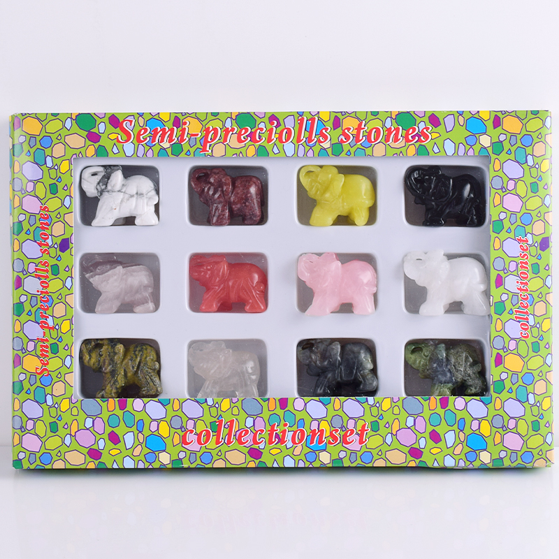 12 unids / caja 1.5 pulgadas mezclado Turtle angel elefante perro - Decoración del hogar