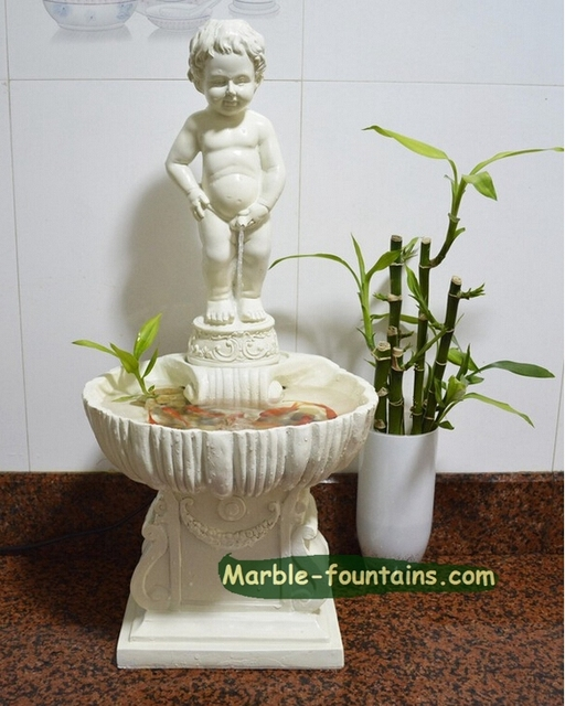 Small indoor fountains marble carving angel statue indoor water ...