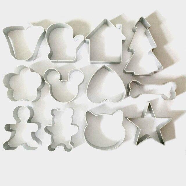 12 Pz/lotto Natale Cookie Cutter Strumenti Lega di Alluminio pan di Zenzero Uomo