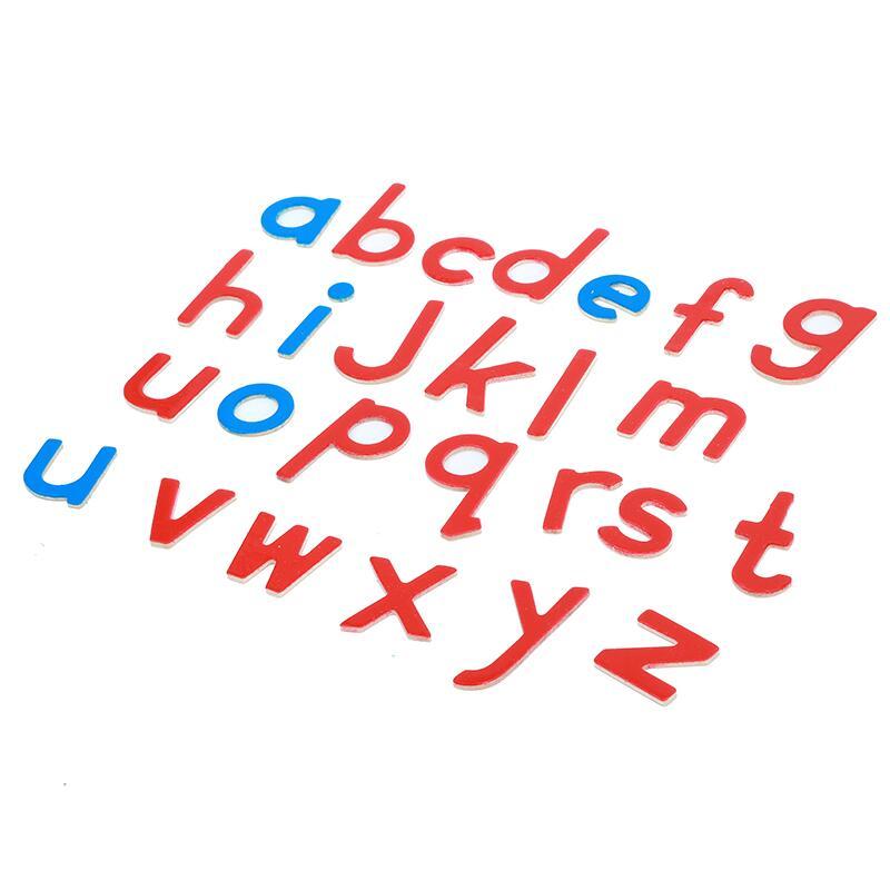 1 satz Baby Spielzeug Montessori Holz Kleine Bewegliche Alphabet Rot & Blau mit Box Vorschule Früh Kinder - 3