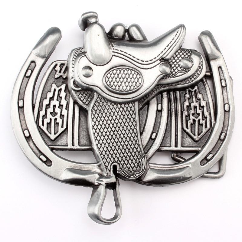 Horse Saddle Shape Equestrian Belt Buckle Horse Lover's Belt Accessories