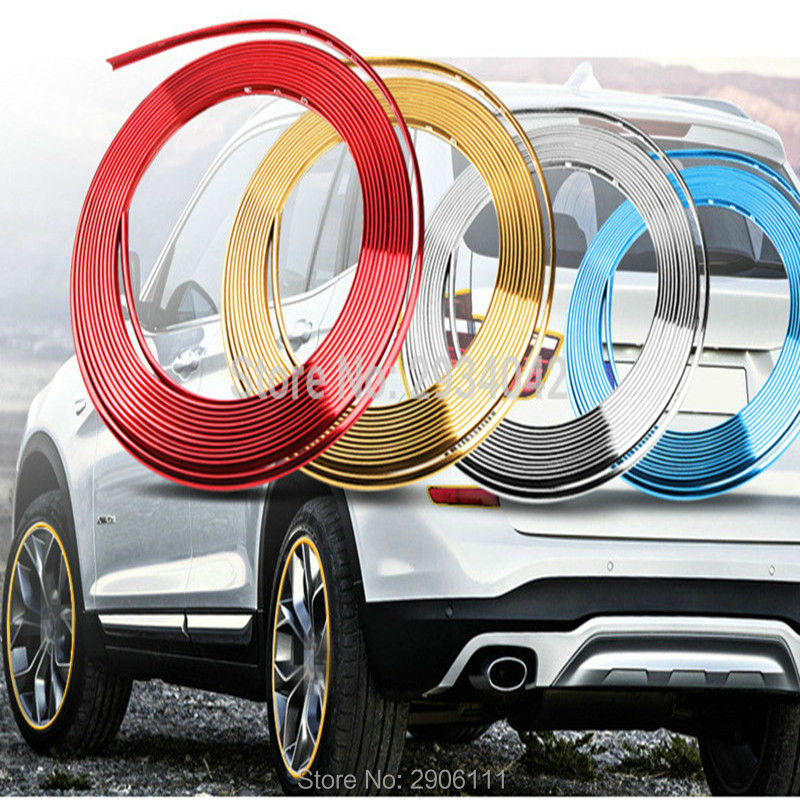 8m car-styling upgrade plating contour decorative adhesive paste accessories for Cadillac srx cts ats escalade sts dts bls