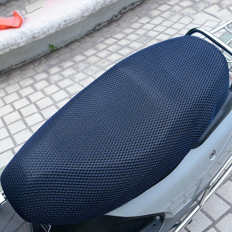 Image 5 - 1 個 XXL 3D メッシュオートバイのシートカバーの通気性太陽プルーフバイクスクーターシートカバークッションオートバイの保護    グループ上の 自動車
