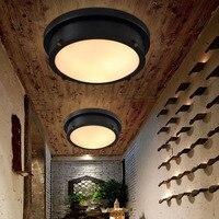 HGhomeart 24 Вт светодио дный светодиодный Ретро заподлицо потолочный светильник Luminaria В 220 110 в американский светодио дный стиль светодиодный по