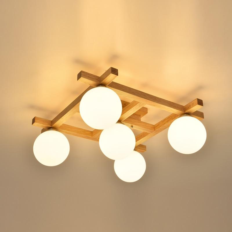 Licht & Beleuchtung Nordic Holz Wohnzimmer Lampen Warmes Schlafzimmer Deckenleuchten Sind Einfache Holz Japanischen Studie Kleines Wohnzimmer Lampen Ya72623