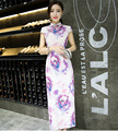Floral Print Cheongsams Dress Hot Sale High Quality Women Dress Summer Chinese Classical Slim Dress for Ladies S M L XL XXL