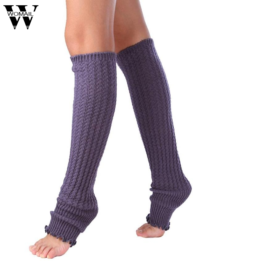 Amazing Fashion Womens Winter Knitted Leg Warmers Solid Color New Arrival