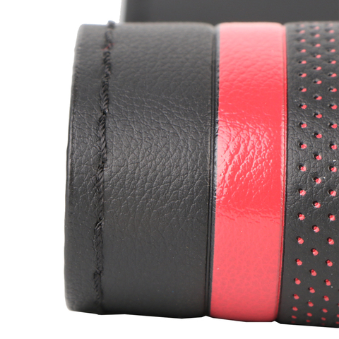 O SHI CAR Steering Wheel Cover Durable 38cm Stitch on Wrap case/Sport Style imitation leather steering cover with Needle &Thread Islamabad