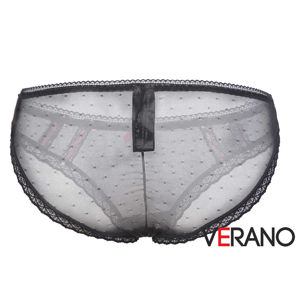 307e097ef13a ... VERANO Women s Sexy Crotchless Underwear Sheer Dot Mesh Lingerie Lace  Cheeky Panty