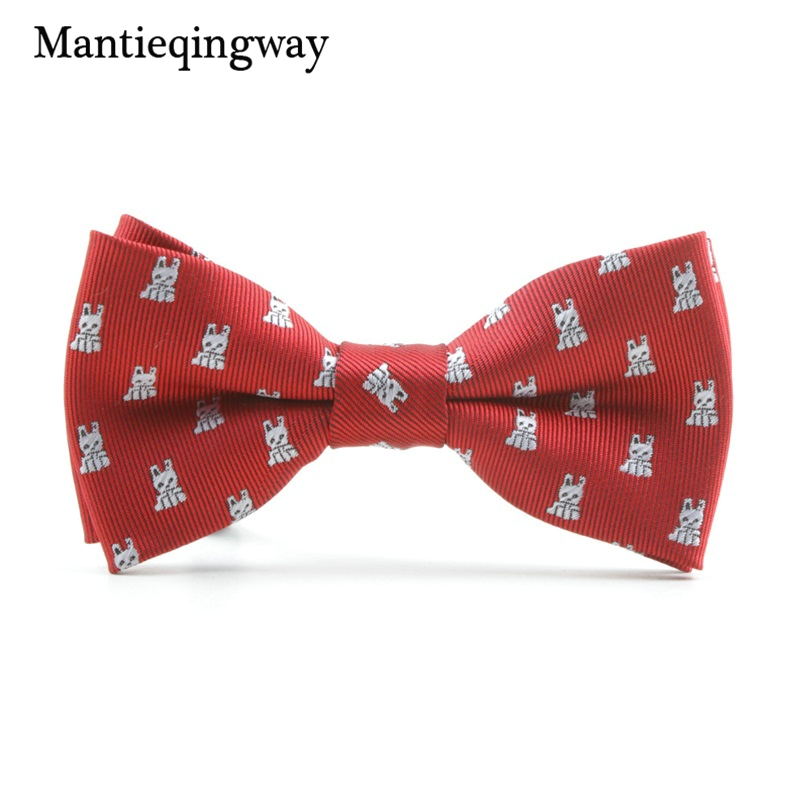MXR068188  Mantieqingway Cartoon Kids Bow Ties for Child Fits Animals Sample Butterflies Collar Bowtie for Boys Woman Youngsters Cravat Tie HTB1fY
