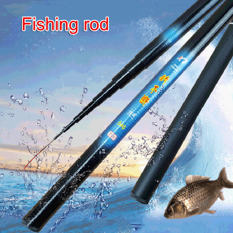 Thread FRP Fishing Rod Telescopic Ultralight Hard Fishing Pole For Stream Freshwater  BHD2