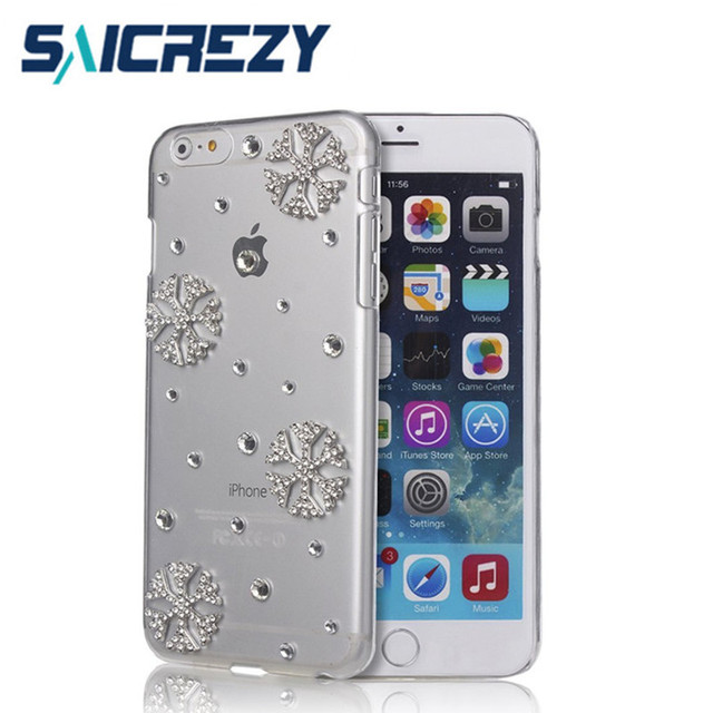 253ee9add Saicrezy Snowflake Case for iphone X XS Max XR 8 plus Christmas Bling  Crystal Diamond Design Clear Cover for iphone 6 6s 7 plus