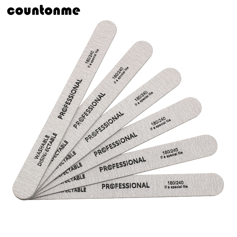купить 10pcs Wooden Nail File Professional Nail Art Sanding Buffer Files 180/240 Double Side For Salon Manicure Pedicure UV Gel Tips по цене 121.72 рублей
