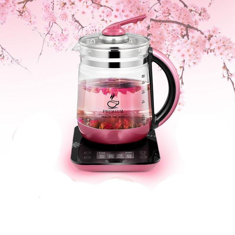 лучшая цена Health pot automatic thickening glass multi-functional office flower tea health mini 1.8L