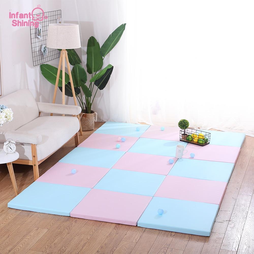 Infant Shining Baby Mat 4CM Thick Play Mat 1PC Soft Carpet Kid Mats Puzzle Playmat For Children 60x60CM
